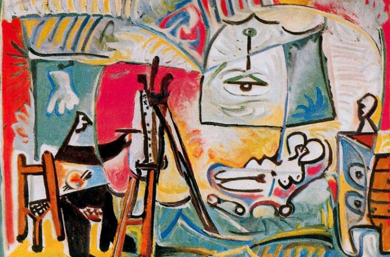 PABLO-PICASSO-THE-PAINTER-AND-HIS-MODEL-12