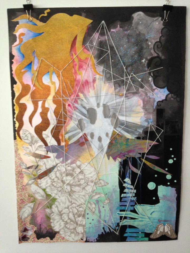 Carol Arteaga, Self Universo 40 x 70 Collage